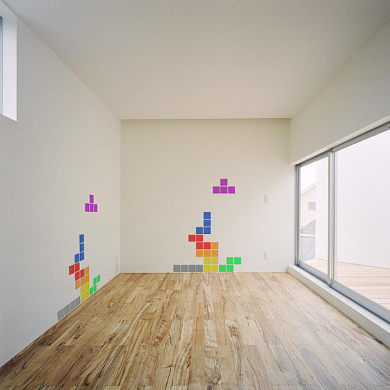 Tetris Wall Vinyl Decal Pack