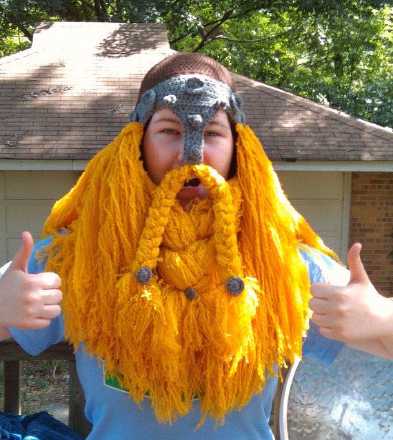 Crocheted Viking Hat