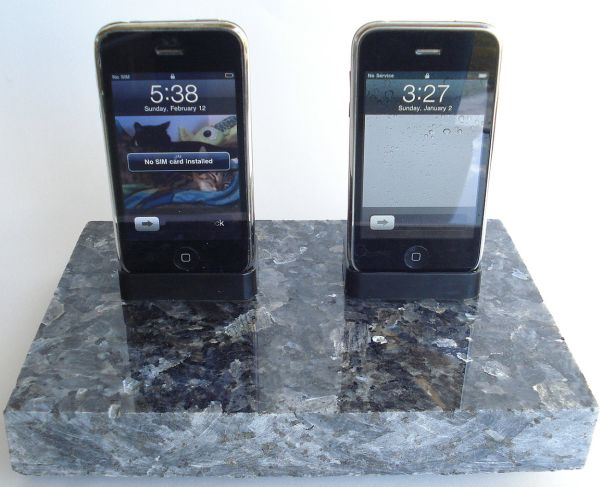 Blue Pearl Dark Granite iPhone iPod Dock