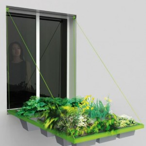 Ingenious hanging gardens for your flat. Designed by french designers Barreau&Charbonnet.