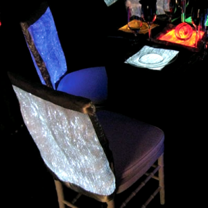 Luminous Fiber Optics rectangular Back of Chair cover