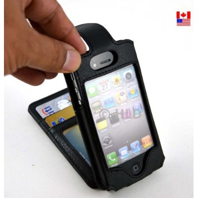 Flip Wallet Card Leather Case for iPhone 4