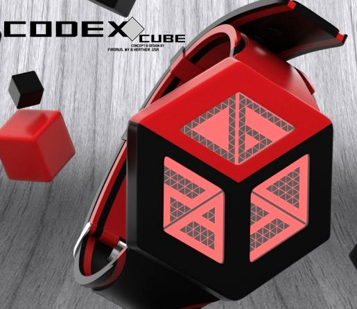 Codex Cube LCD watch