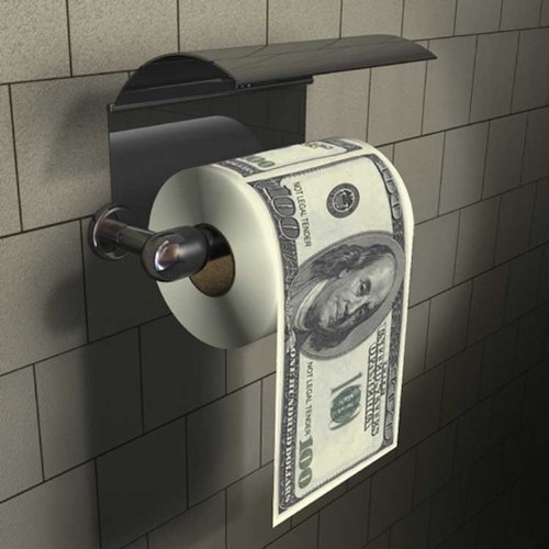 Dollar Bill Toilet Paper