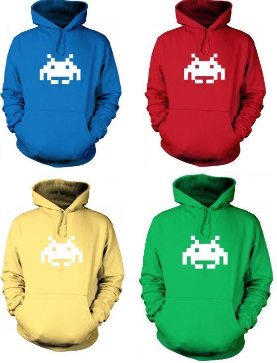 Space Invader Pixel Art Hoodie