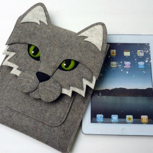 Cat New iPad and iPad 2 sleeve