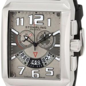 Stuhrling Original Men's 255A.331754 Sportsman Mad Man C-2 Swiss Quartz Chronograph Date Silvertone Watch