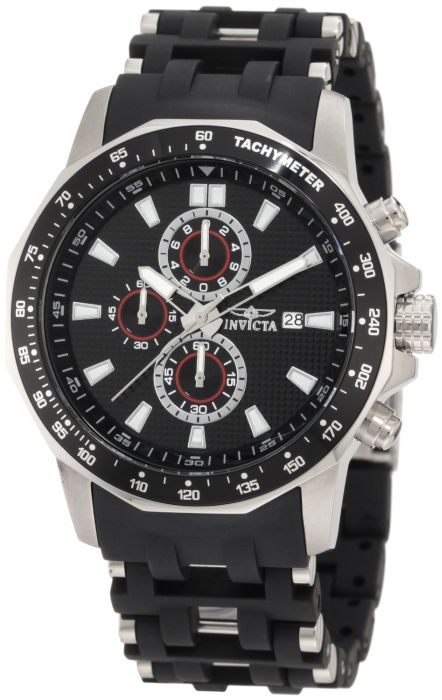 Invicta Men's Black Polyurethane Watch