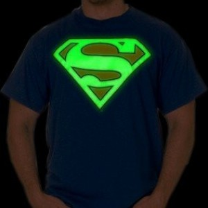 Superman Glow in the Dark Shield Mens T-Shirt
