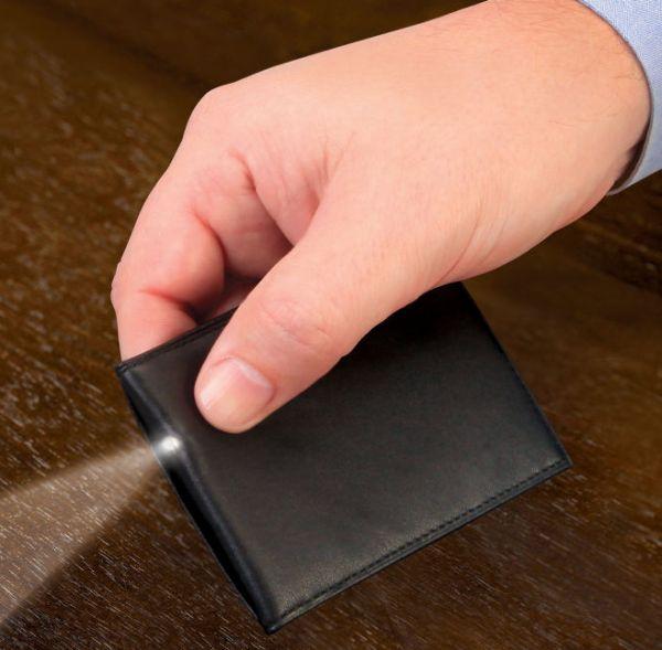 The LED Flashlight Credit Card Holder