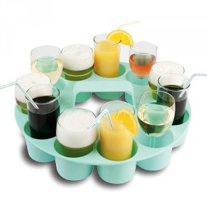 BEVERAGE CADDY WITH HANDLE