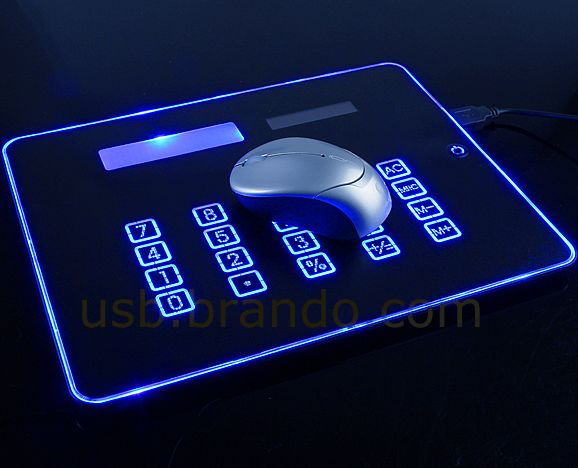3-In-1 USB Mouse Pad Combo