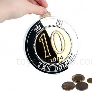 Giant HK$10 Coin Bank