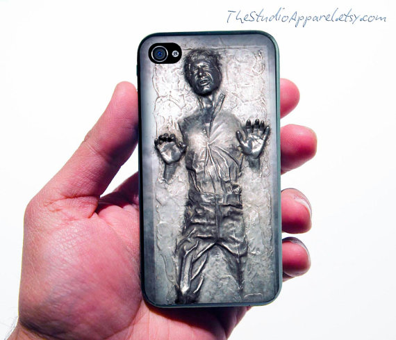 Han Solo in Carbonite Case Design iPhone 4 Case