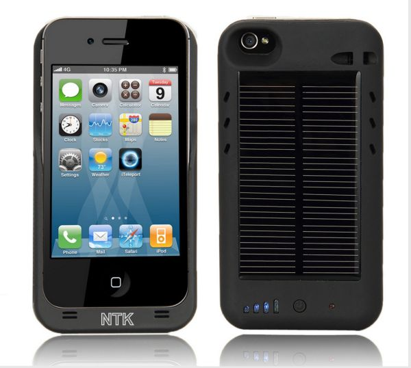 iPhone 4 4G External Solar Powered Battery Charger