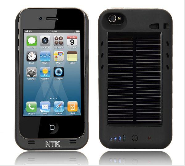 iPhone 4 4G External Solar Powered Battery Charger