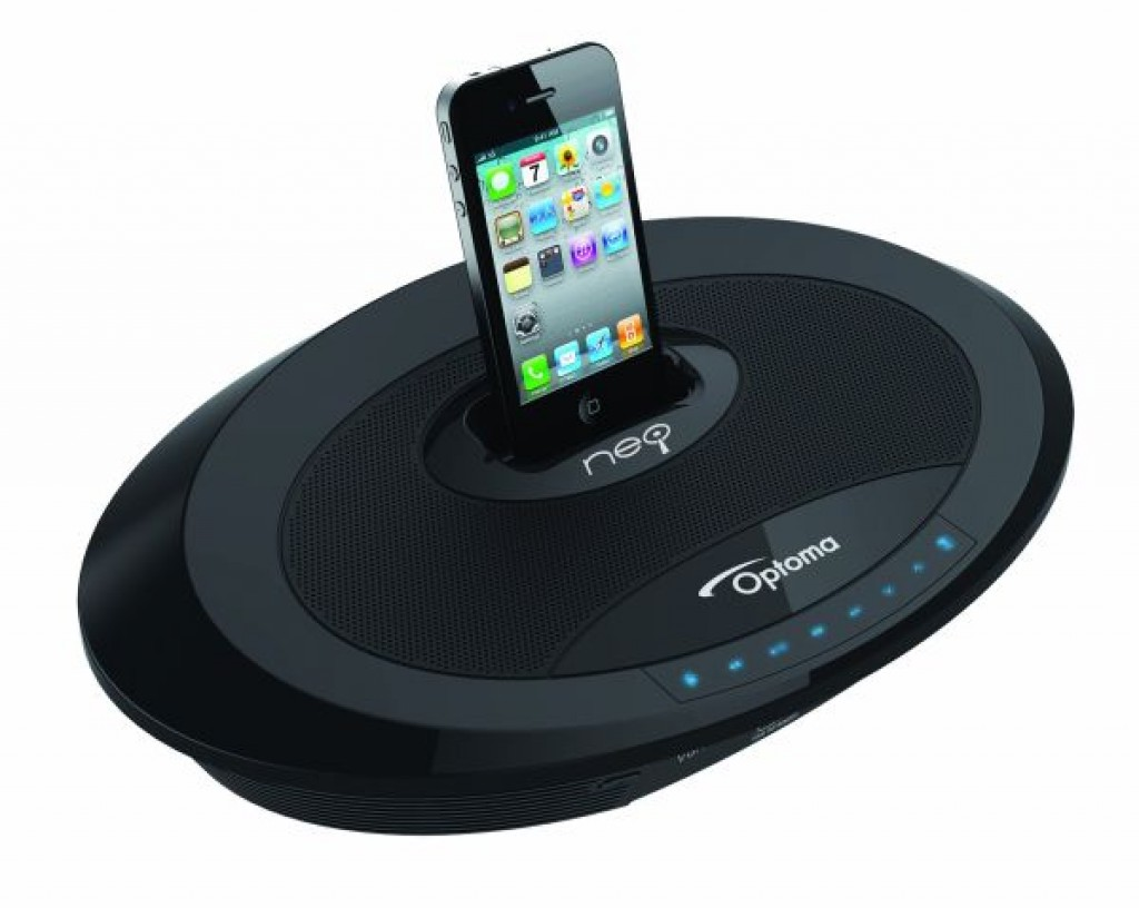 Portable ipod iphone docking station video projector for Iphone projector portable