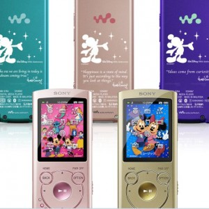 Sony Japan commemorate Walt Disney's 110th birthday with a new series of NW-S760/S760K/S760BT Walkman