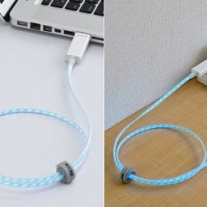 Streaming illuminated cable for iPad iPhone