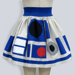 r2d2 star wars inspired full skirt