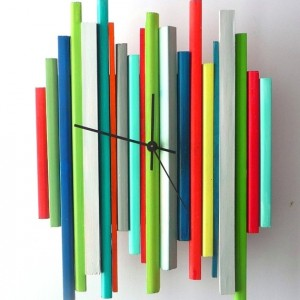 Sticks Sculpture Clock