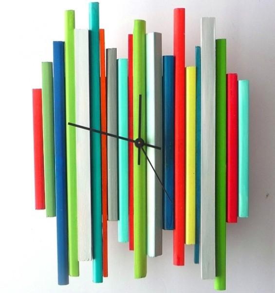 Sticks Sculpture Clock