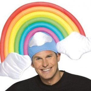 Adult Men's and Women's Rainbow Costume Hat