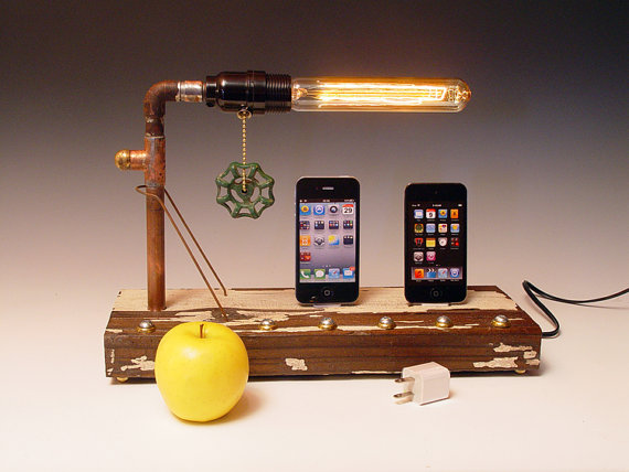 iPhone iPod dock AND table lamp