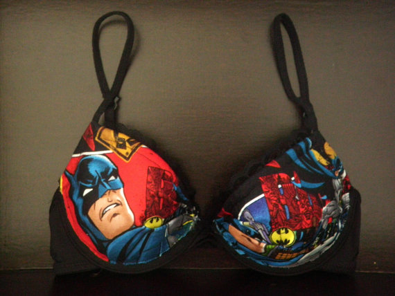 Bra with Batman Gotham Comics Fabric