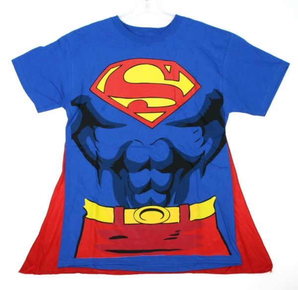 Superman Muscle and Cape Costume T-shirt