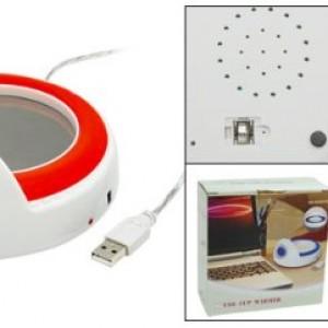 USB Mug Cup Coffee Warmer Heater with Clock