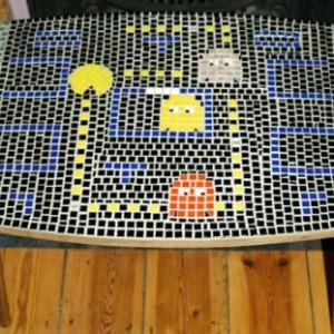Retro mosaic game table