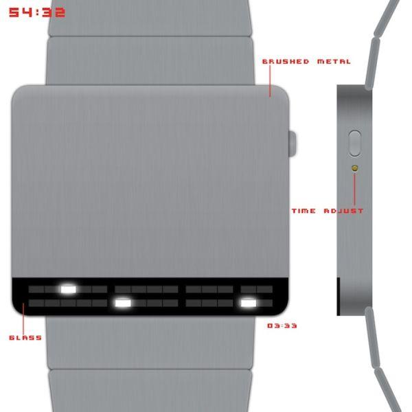 Dieter Rams Inspired LED Watch Design