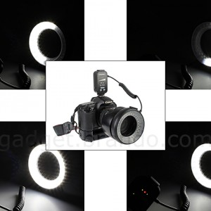 58-LED Macro L/R Half/Full Ring Flash & Continuous Lights