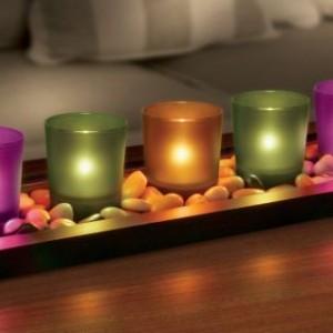 Sarah Peyton 5-piece Jewel Tone Candle Tray