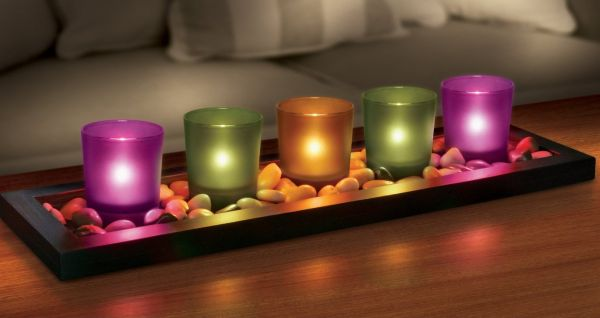 Sarah Peyton 5-piece Jewel Tone Candle Tray