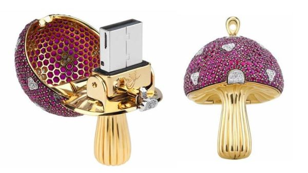 $37,000 for a Jewel-Encrusted Magic Mushroom Flash Drive