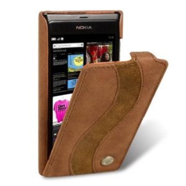 Nokia N9 Ultra Slim Handmade Premium Genuine Cowhide Leather Case