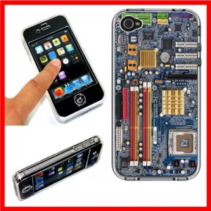 Motherboard Computer iPhone 4 4S Full Plastic Case