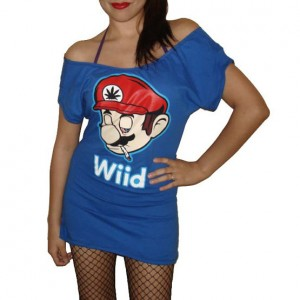 Nintendo Mario Sexy Scoop Mini Dress Top
