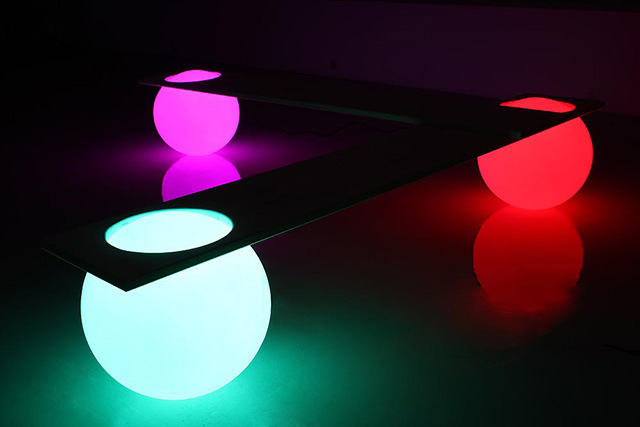 Glowing Light Ball Bench
