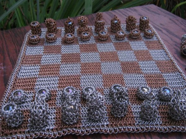 Bronze and Stainless Steel Chess