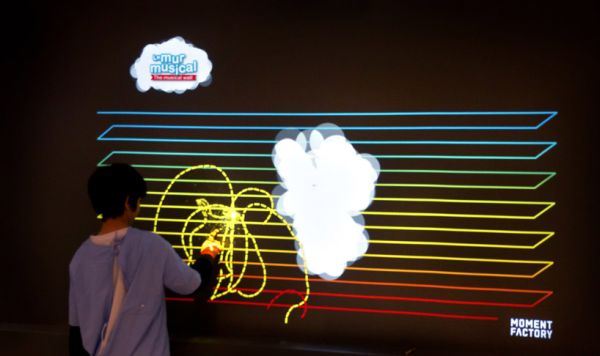 Interactive musical wall for saint-justine hospital