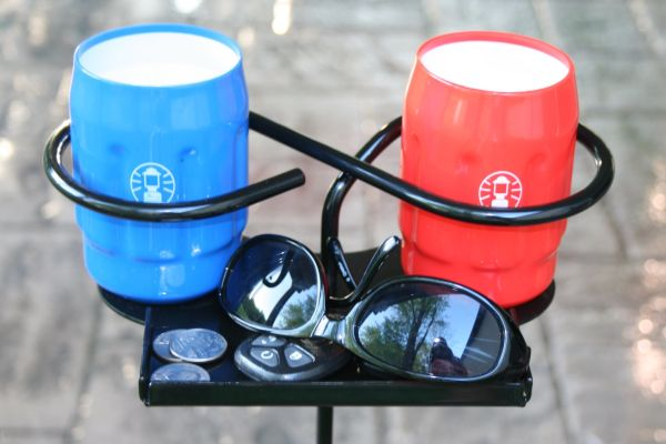Beverage Holder with a Side Tray