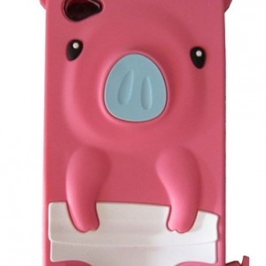 3D Pig Cartoon Animal Silicone Case Cover for iPhone 4 4G 4S