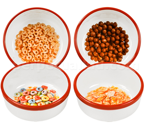 RETRO PRINTED CEREAL BOWL SET