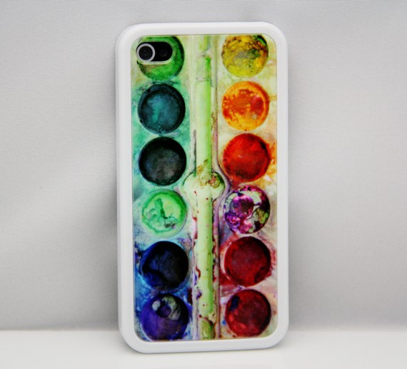 Watercolor palette case for iPhone 4s/4