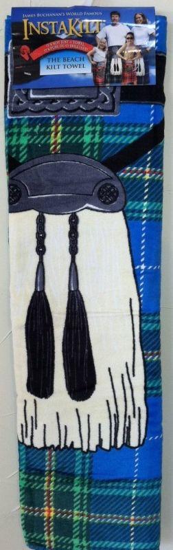 Blue Insta Kilt Towel