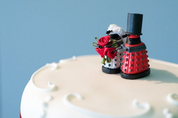 Daleks Land on Top of Wedding Cake