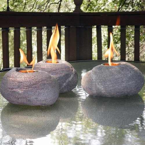 Decorative Fire Rocks with Real North American River Rock Look